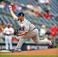 30 September 2009: New York Mets' starting pitcher Tim Redding in action against the Washington Nationals at Nationals Park in Washington, DC. The Nationals rallied in the bottom of the 9th inning on a Justin Maxwell walk-off Grand Slam to win 7-4 and sweep the Mets' 3-game series, capping the Nationals' 2009 home season. Mandatory Credit: Ed Wolfstein Photo