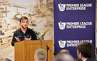 Pictured: Nathan Dicks Wednesday 25 November 2015<br /> Re: Schools take part in this year's Premier League Enterprise vent at Penderyn Suite, Liberty Stadium, Swansea, UK