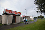 Gateshead 1 Cambridge United 1, 17/09/2011. Gateshead International Stadium, Football Conference. Visiting fans making their way towards the turnstiles at the Gateshead International Stadium, the athletics stadium which is also the home ground of Gateshead FC, pictured on the day the club played host to Cambridge United in a Blue Square Bet Premier division fixture. The match ended in a one-all draw, watched by a crowd of 904. The point meant Gateshead went to the top of the division, one below the Football League in England. Photo by Colin McPherson.