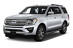 2018 Ford Expedition XLT 5 Door SUV Angular Front stock photos of front three quarter view