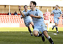 20/03/2010  Copyright  Pic : James Stewart.sct_jspa08_hamilton_v_falkirk  .:: RYAN FLYN CELEBRATES AFTER HE SCORES FALKIRK'S SECOND  ::  .James Stewart Photography 19 Carronlea Drive, Falkirk. FK2 8DN      Vat Reg No. 607 6932 25.Telephone      : +44 (0)1324 570291 .Mobile              : +44 (0)7721 416997.E-mail  :  jim@jspa.co.uk.If you require further information then contact Jim Stewart on any of the numbers above.........