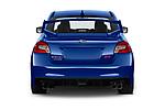 Straight rear view of a 2019 Subaru WRX STI Base 4 Door Sedan stock images
