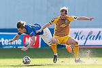 20.02.2021, xtgx, Fussball 3. Liga, FC Hansa Rostock - SV Waldhof Mannheim, v.l. Bentley Baxter Bahn (Hansa Rostock, 8), Marcel Seegert (Mannheim, 5) Zweikampf, Duell, Kampf, tackle <br /> <br /> (DFL/DFB REGULATIONS PROHIBIT ANY USE OF PHOTOGRAPHS as IMAGE SEQUENCES and/or QUASI-VIDEO)<br /> <br /> Foto © PIX-Sportfotos *** Foto ist honorarpflichtig! *** Auf Anfrage in hoeherer Qualitaet/Aufloesung. Belegexemplar erbeten. Veroeffentlichung ausschliesslich fuer journalistisch-publizistische Zwecke. For editorial use only.