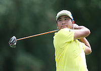 29th August 2021; Owens Mills, Maryland, USA;  Hideki Matsuyama (JPN) watches his shot from the 9th tee during the final round of the BMW Championship on August 29, 2021, at Caves Valley Golf Club in Owings Mills, MD.