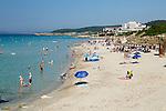 Spain, Menorca, Sant Tomas: Platja de Sant Tomas, South Coast | Spanien, Menorca, Sant Tomas: Platja de Sant Tomas an der Sued-Kueste