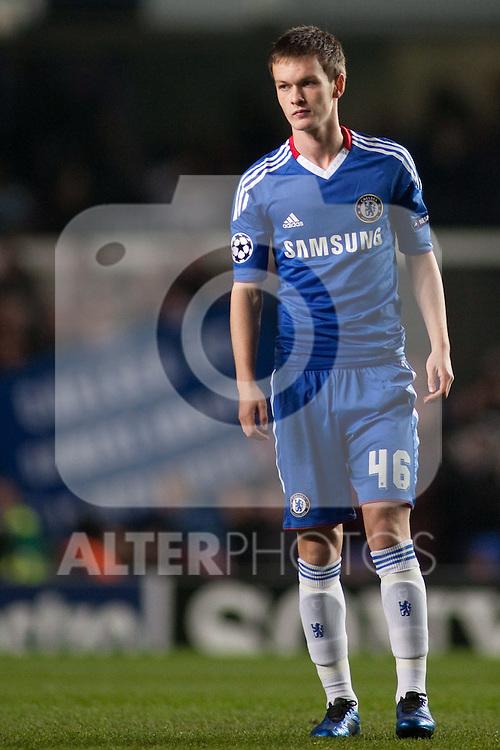 23.11.2010, Stamford Bridge, UK, London, UEFA CL Group F Chelsea FC vs M?K ?ilina, im Bild Chelsea's midfielder Josh McEachran  .                                                                                                       Foto nph /  Mitchell Gunn