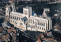 York: Yorkminster from the air.