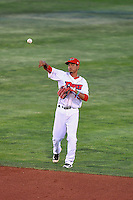 Juan Moreno (13) of the Orem Owlz during the game against the Grand Junction Rockies in Pioneer League action at Home of the Owlz on July 6, 2016 in Orem, Utah. The Rockies defeated the Owlz 5-4 in Game 2 of the double header.   (Stephen Smith/Four Seam Images)
