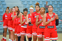 team Puerto Rico before a basketball game between the national teams of Puerto Rico and Serbia on Sunday 30 th of May 2021 in Kortrijk , Belgium . PHOTO SPORTPIX.BE | SPP | STIJN AUDOOREN