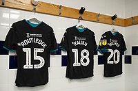 General view of the away changing room during the Sky Bet Championship match between Preston North End and Swansea City at the Deepdale Stadium in Preston, England, UK. Saturday 01 February 2020