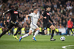 Lucas Vazquez of Real Madrid runs with the ball during the match Real Madrid vs Napoli, part of the 2016-17 UEFA Champions League Round of 16 at the Santiago Bernabeu Stadium on 15 February 2017 in Madrid, Spain. Photo by Diego Gonzalez Souto / Power Sport Images