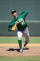 Lynchburg Hillcats starting pitcher Luis Lugo (47) in action against the Winston-Salem Dash at BB&T Ballpark on August 2, 2015 in Winston-Salem, North Carolina.  The Hillcats defeated the Dash 8-3.  (Brian Westerholt/Four Seam Images)