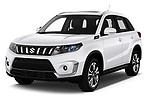 2019 Suzuki Vitara Grand Luxe Xtra 5 Door SUV angular front stock photos of front three quarter view