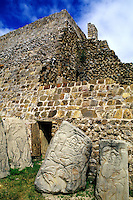 Ruins Historical of Monte Alban in Oaxaca Mexico.