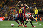 Barcelona´s Neymar Jr and Jordi Alba and Athletic de Bilbao´s Andoni Iraola during 2014-15 Copa del Rey final match between Barcelona and Athletic de Bilbao at Camp Nou stadium in Barcelona, Spain. May 30, 2015. (ALTERPHOTOS/Victor Blanco)