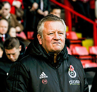 Sheffield United's manager Chris Wilder during the Sky Bet Championship match between Sheff United and Hull City at Bramall Lane, Sheffield, England on 4 November 2017. Photo by Stephen Buckley / PRiME Media Images.