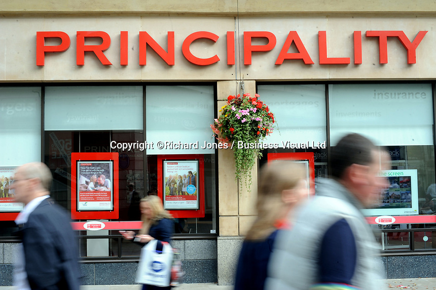 The Principality Building Society in Cardiff.  29-Sept-2013