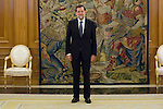 22.08.2012. King Juan Carlos of Spain receives the President of the Government of Spain Mariano Rajoy Brey in the Zarzuela Palace in Madrid. In the image Mariano Rajoy Brey (Alterphotos/Marta Gonzalez)