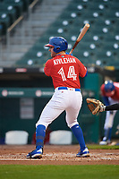 Buffalo Bisons Patrick Kivlehan (14) at bat during an International League game against the Scranton/Wilkes-Barre RailRiders on June 5, 2019 at Sahlen Field in Buffalo, New York.  Scranton defeated Buffalo 4-0, the second game of a doubleheader. (Mike Janes/Four Seam Images)