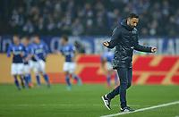 07.02.2018, Football DFB Pokal 2017/2018,   FC Schalke 04 - VfL Wolfsburg, in VELTINS-Arena Gelsenkirchen. Trainer Domenico Tedesco (Schalke)  *** Local Caption *** © pixathlon<br /> <br /> +++ NED out !!! +++<br /> Contact: +49-40-22 63 02 60 , info@pixathlon.de