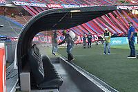 MEDELLÍN - COLOMBIA, 31-07-2021:Independiente Medellín y Atlético Junior en partido por la fecha 3 como parte de la Liga BetPlay DIMAYOR II 2021 jugado en el estadio Atanasio Girardot  de la ciudad de Medellín. / Independiente Medellin and Atletico Junior in match for the date 3 as part of the BetPlay DIMAYOR League II 2021 played at Atanasio Girardot stadium in Medellin city. Photo: VizzorImage / Luis Benavides / Contribuidor