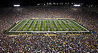 Sept. 6, 2014; Note Dame Marching Band performs during half-time against Michigan . (Photo by Barbara Johnston/ University of Notre Dame)