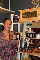 05-03-18 Yvonna Kopacz Wright & husband  Brett show Bees - wax - candles at NiLu in Harlem