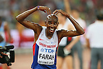 Mohamed Farah (GBR), <br /> AUGUST 22, 2015 - Athletics : <br /> 15th IAAF World Championships in Athletics Beijing 2015 <br /> Men's 10000m Final <br /> at Beijing National Stadium in Beijing, China. <br /> (Photo by YUTAKA/AFLO SPORT)