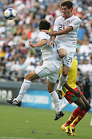Brad Evans (21) gets the header. USA defeated Grenada 4-0 during the First Round of the 2009 CONCACAF Gold Cup at Qwest Field in Seattle, Washington on July 4, 2009.