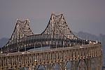 The Richmond San Rafael bridge looking eastbound from San Rafael California.