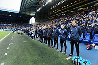 The Swansea bench observes a minute's silence prior to the Sky Bet Championship match between Sheffield Wednesday and Swansea City at Hillsborough Stadium, Sheffield, England, UK. Saturday 09 November 2019