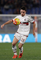 Calcio, Serie A: Roma vs Milan. Roma, stadio Olimpico, 9 gennaio 2016.<br /> AC Milan's Giacomo Bonaventura in action during the Italian Serie A football match between Roma and Milan at Rome's Olympic stadium, 9 January 2016.<br /> UPDATE IMAGES PRESS/Isabella Bonotto