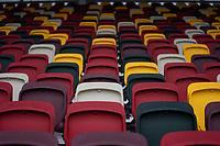 Preston North End's Alan Browne battles for possession with Brentford's Luke Daniels and Mathias Jensen<br /> <br /> Photographer Stephanie Meek/CameraSport<br /> <br /> The EFL Sky Bet Championship - Brentford v Preston North End - Sunday 4th October 2020 - Griffin Park - Brentford<br /> <br /> World Copyright © 2020 CameraSport. All rights reserved. 43 Linden Ave. Countesthorpe. Leicester. England. LE8 5PG - Tel: +44 (0) 116 277 4147 - admin@camerasport.com - www.camerasport.com