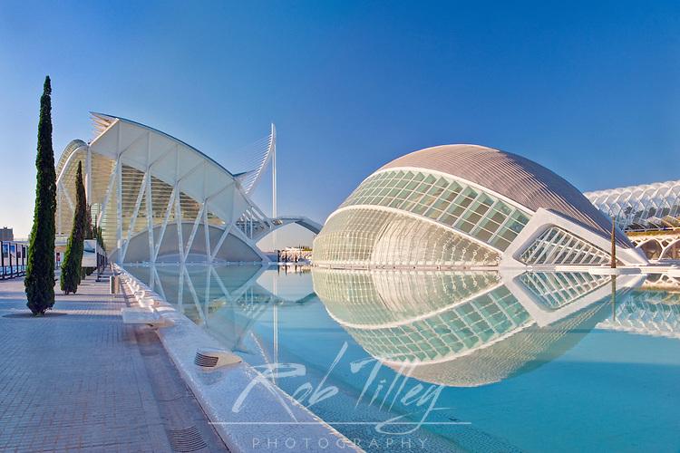 Europe, Spain, Valencia, City of Arts and Sciences (Ciudad de las Artes y de las Cenciea de la Valencia)