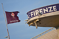 A Fiorentina flag waves during the Italy cup football match between ACF Fiorentina and Cosenza calcio at Artemio Franchi stadium in Florence (Italy), August 13th, 2021. Photo Andrea Staccioli / Insidefoto