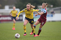 Jill Roord of Arsenal and Kate Longhurst of West Ham during West Ham United Women vs Arsenal Women, Women's FA Cup Football at Rush Green Stadium on 26th January 2020