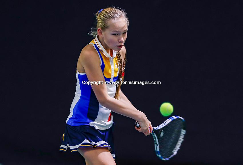 Hilversum, Netherlands, December 3, 2017, Winter Youth Circuit Masters, 12,14,and 16 years, Joy De Zeeuw (NED)<br /> Photo: Tennisimages/Henk Koster