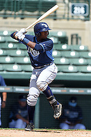 Tampa Bay Rays third baseman Cristian Toribio (70) during an Instructional League game against the Baltimore Orioles on September 15, 2014 at Ed Smith Stadium in Sarasota, Florida.  (Mike Janes/Four Seam Images)