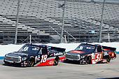 #18: Christian Eckes, Kyle Busch Motorsports, Toyota Tundra Safelite AutoGlass, #51: Chandler Smith, Kyle Busch Motorsports, Toyota Tundra JBL