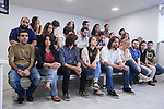 "`Podemos´ political party members during the presentation of ""Ruta del Cambio"" - Pablo Iglesias Tour in Madrid, Spain. June 18, 2015. (ALTERPHOTOS/Victor Blanco)"