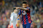 FC Barcelona's Neymar Santos Jr celebrates goal during Spanish King's Cup Final match. May 30,2015. (ALTERPHOTOS/Acero)