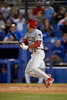 Clearwater Threshers Damek Tomscha (15) at bat during a game against the Dunedin Blue Jays on April 8, 2017 at Florida Auto Exchange Stadium in Dunedin, Florida.  Dunedin defeated Clearwater 12-6.  (Mike Janes/Four Seam Images)