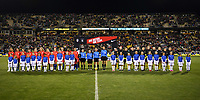 COLUMBUS, OH - NOVEMBER 07: The USWNT and Sweden starting line ups during a game between Sweden and USWNT at MAPFRE Stadium on November 07, 2019 in Columbus, Ohio.
