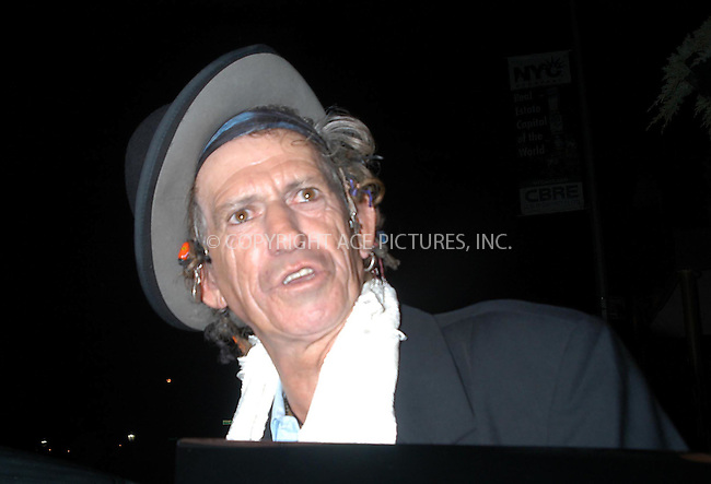 keith richard on a night on the town in nyc.   bocklet.