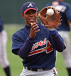 3 March 2005: Infielder Elvis Andrus at the Atlanta Braves Spring Training site at Disney's Wide World of Sports in Kissimmee, Fla..Photo by Tom Priddy