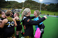 Action from the 2021 Wellington premier one women's hockey final between Harbour City and Dalefield at National Hockey Stadium in Wellington, New Zealand on Saturday, 14 August 2021. Photo: Dave Lintott / lintottphoto.co.nz
