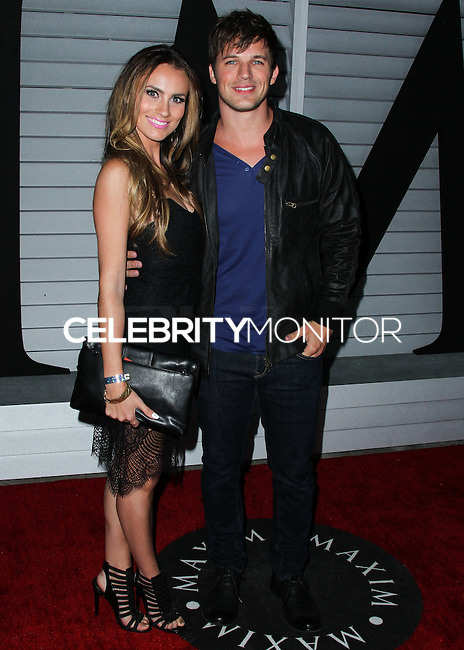 WEST HOLLYWOOD, CA, USA - JUNE 10: Angela Stacy, Matt Lanter at the MAXIM Hot 100 Party held at the Pacific Design Center on June 10, 2014 in West Hollywood, California, United States. (Photo by Xavier Collin/Celebrity Monitor)