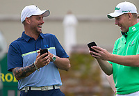 Golfer Stephen Gallagher and Keith Duffy (Singer / Actor)  during the BMW PGA PRO-AM GOLF at Wentworth Drive, Virginia Water, England on 23 May 2018. Photo by Andy Rowland.