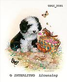 GIORDANO, CHRISTMAS ANIMALS, WEIHNACHTEN TIERE, NAVIDAD ANIMALES, paintings+++++,USGI2091,#XA# dogs,puppies
