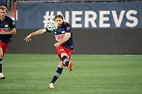 FOXBOROUGH, MA - OCTOBER 19: Thomas McNamara #26 of New England Revolution during a game between Philadelphia Union and New England Revolution at Gillette on October 19, 2020 in Foxborough, Massachusetts.